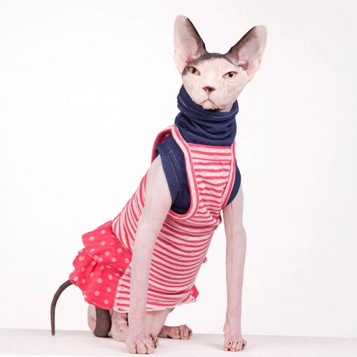 sphynx-cat-clothes-Layer-Pink-Lemonade-Skinny-Jean-sphynx-cat-wear