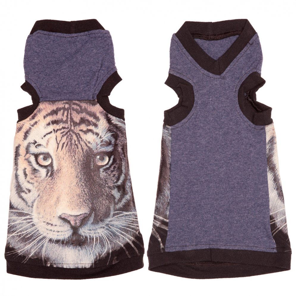 sphynx-cat-clothes-Tiger-Face-V-Neck-sphynx-cat-wear