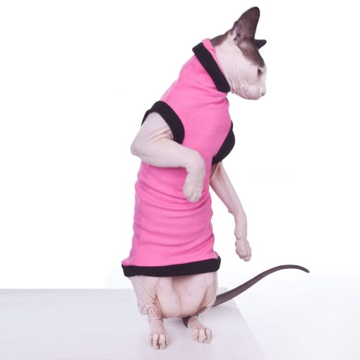 sphynx-cat-clothes-Pink-Dickie-Grande-sphynx-cat-wear